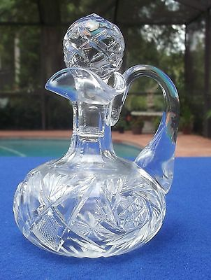 ABP Cut Glass Oil Cruet With Stopper