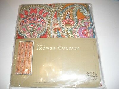 World Market Cotton Boho Venice Paisley Shower Curtain 72 X NIP