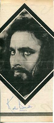 Kabir Bedi Autograph Actor In James Bond Film  Octopussy Signed Photo Page