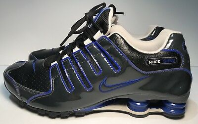 online store 3ade6 7ae35 New Men s Nike Shox NZ Sneakers Size 10.5 Black Anthracite Blue