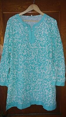 43c99b53d5 TALBOTS SZ. 4 women's Green Cotton Swimwear Cover-up - $17.99 | PicClick