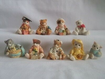 Calico Kittens by Enesco Lot of 9 Mini Figures