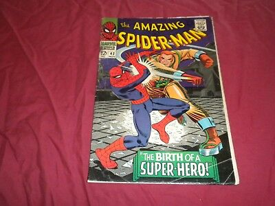 Amazing Spider-man #42 marvel 1966 silver age 3.0/gd/vg comic 1ST FULL MARY JANE