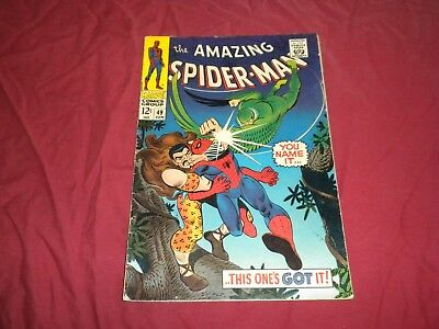 Amazing Spider-man #49 marvel 1967 silver age 5.5/6.0 comic! VULTURE! KRAVEN!