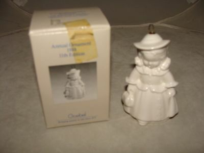 Goebel 1988 Angel Bell Tree Ornament White