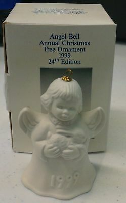 Goebel 1999 Angel Bell Tree Ornament White