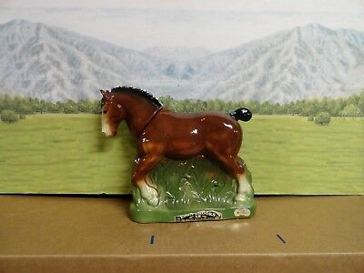 """Ezra Brooks """"Clydesdale Decanter""""  Heritage China Sovenier 1974"""