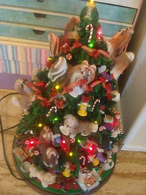 Danbury Mint Shih Tzu Dogs Large christmas tree  rare