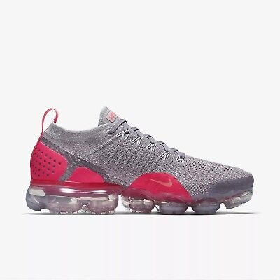 16228c8f4c4b Nike Air VaporMax Flyknit 2 Atmosphere Grey Crimson 942843-005 WMNS SIZE  5-12
