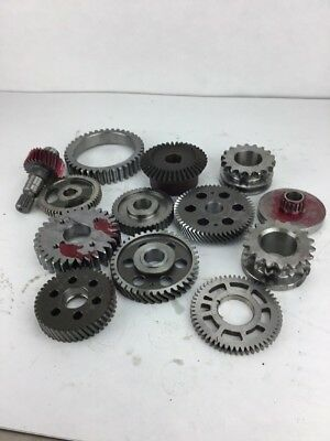 Industrial Machine Age Steel Lot 13 Gears/Cogs Steampunk Art