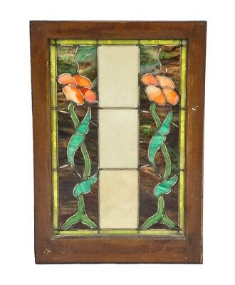 Early 20Th Century Finely Executed American Art Nouveau Leaded Art Glass Window