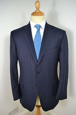 Vintage Ede & Ravenscroft By Appointment Blue Wool Blazer Jacket Large 42 Short