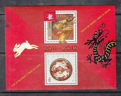 VC901 CANADA #2496a YEAR OF DRAGON/RABBIT BUY 4 OR MORE STAMP LOTS $3.00 S&H MAX
