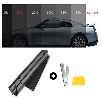 Uncut Window Tint Roll Film 5-70% VLT Office Car Home Glass Protection Sun Shade