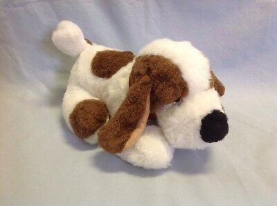 Gaines Burgers Dog Food Advertising Plush Puppy Dog By Trudy 1986 White Brown