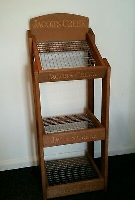 Large Rustic Country Style Jacobs Creek Shop Display Wine Rack Stand Shelves