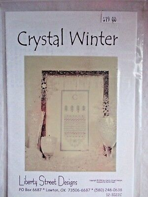 New CRYSTAL WINTER sampler embroidery pattern-Was $19-Instruction+Pattern+thread