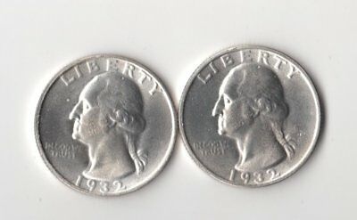 2 Magic Trick Coins Two Face Washington Quarters 2 heads & 2 Tails Novelty Coin