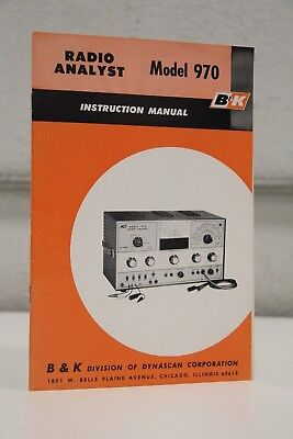 B&K 970 Radio Analyst Instruction Manual