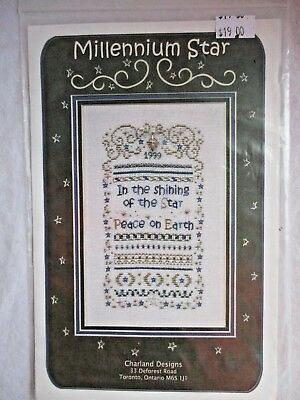 New MILLENNIUM STAR Sampler Embroidery Pattern, Was $19, Instructions+Pattern