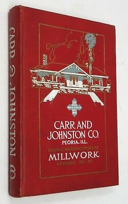 Carr and Johnston Peoria Illinois Antique MILLWORK Catalog Stained Glass C 1915