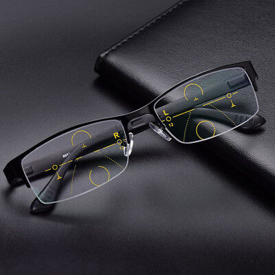 Reading Glasses 1.0~3.0 Strength Transition Adaptive Photochromic Varifocal Lens
