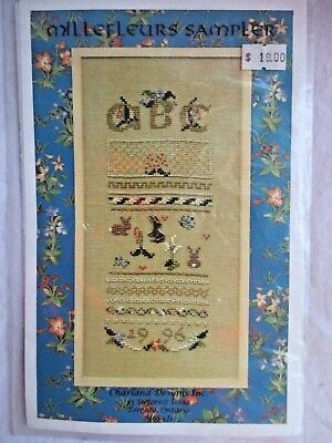 New ABC CHILDREN'S THEME Sampler Embroidery Pattern+Instructions, Was $19