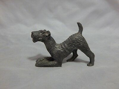Michael Ricker Pewter Schnauzer Dog Figurine