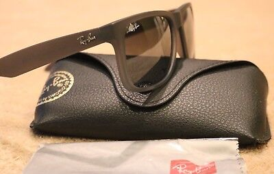 9294886958 ... purchase new authentic rayban justin sunglasses rb4165 852 88 grey  silver gradient mirror cae89 9d332