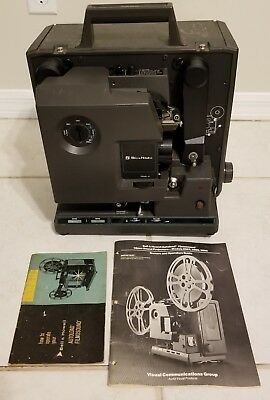 Vintage Bell & Howell 2585B 16mm Filmosound Projector VG+ TESTED w/ MANUALS