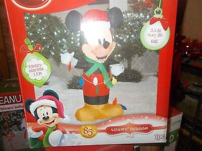 Mickey Mouse with string lights Airblown Inflatable 3.5 ft.
