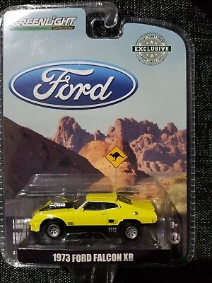 GREENLIGHT 1:64 Diecast Car - 1973 XB FORD FALCON - Yellow - GT351 Coupe