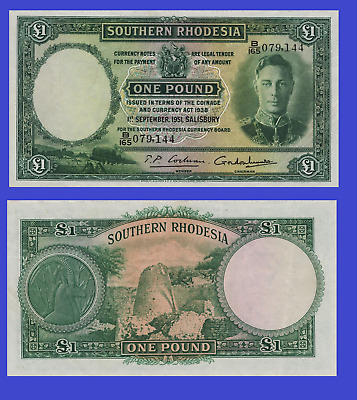 Southern Rhodesia 1 ponud 1938 UNC - Reproduction