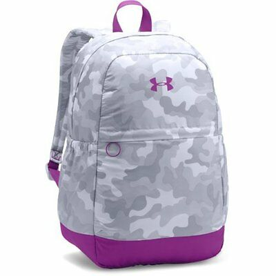 Under Armour UA Girls  Favorite Backpack, White Purple Rave, Camp  School 57dfb47e59