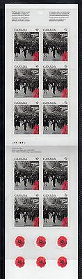 VC223 CANADA - BOOKLET 2014 WAIT FOR ME DADDY 10 X P (.85c) MINT NH VF PEELABLE