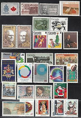 VC660 CANADA Sc#429a-1501 COLLECTION OF 28 STAMPS 1966-1993 MINT OG NH VF