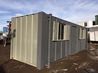 Site Cabin Office Portable Building Anti Vandal Steel 24x8 More Available