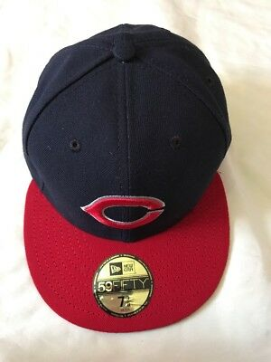 Men's 59fifty Cincinnati Reds C Logo Black Fitted Hat- 58.7Cm, New
