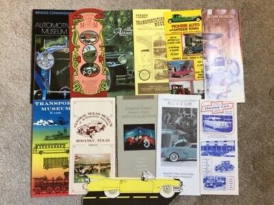 Vintage Auto Museum Brochures - Lot of 12