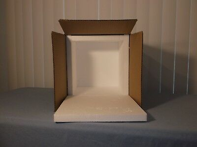 """IDEXX Styrofoam Shipping Container and Box 12"""" X 12"""" X 11"""" X 1"""" Thick Foam"""