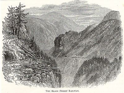 Antique Print,germany,black Forest, Black Forest Railway 1893