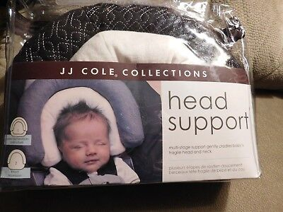 Jj Cole Head Support Black w/White Insert - Brand New - Free Shipping