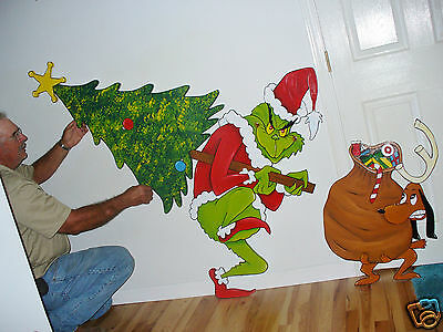 GRINCH IS STEALING your lights Christmas yard art decoration.Right ...