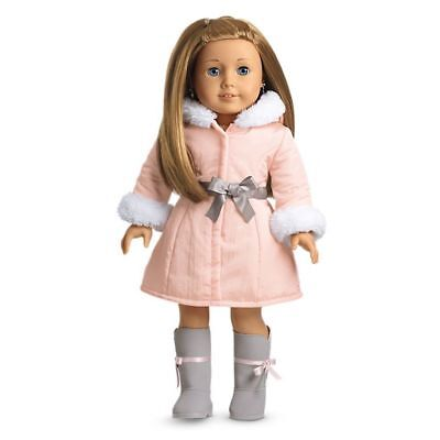 American Girl Doll MY AG *Pretty Pink Coat Boots + Charm Set New in Box *RETIRED