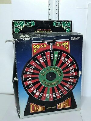 Vintage Roulette Wheel Coin Activated Wheel Saving Coin Bank