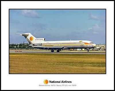 National Airlines Boeing 727-235 11x14 Photo (I010RGAA11X14)