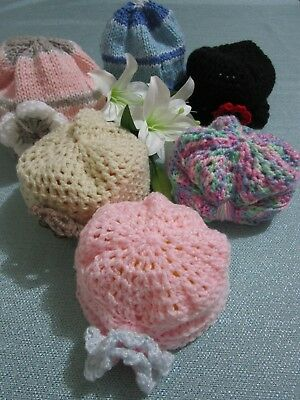 Handmade knitted baby hats-Various hats to choose from.