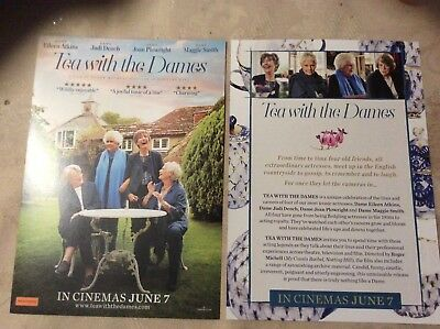Promotional Movie Flyer for Tea With The Dames, Atkins, Dench, Plowright, Smith