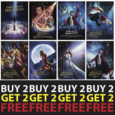 THE GREATEST SHOWMAN MOVIE POSTERS A4/A3 300gsm Photo Poster Film Wall Decor Fan