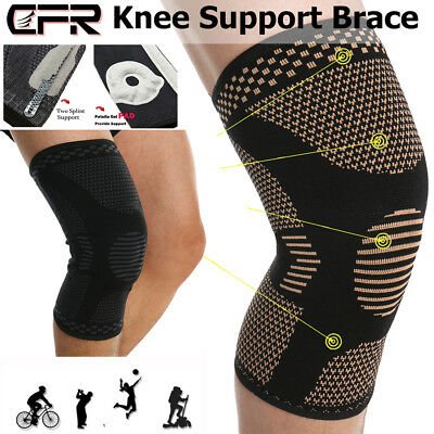 e5e5f93945 Knee Compression Brace Sleeve Patella Support Sports Arthritis Joint Pain  Relief